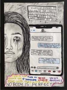 A young woman crying and having negative thoughts
