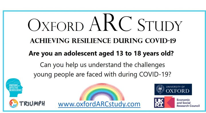 Achieving resilience during Covid-19: New study for young people and their parents/carers